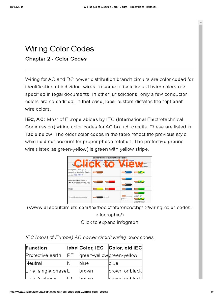 Wiring Color Code | Electrical Wiring | Electric Power System