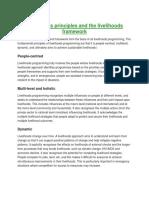Livelihoods Principles and the Livelihoods Framework