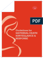 Guidelines for Maternal Death Surveillance & Response