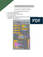 Snap Maze Part 1 Code Blocks