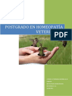 Postgrado en Homeopatía Veterinaria