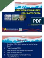 Panduan Umum RTRW Kabupaten Kota
