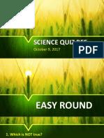 Science Quiz Bee