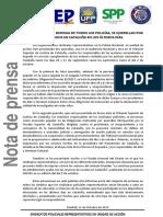 2017-10-11 NOTA PRENSA-QUERELLA SINDICATOS POLICIALES DEFENSA POLICIAS CATALUÑA