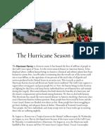 The Hurricane Season of 2017
