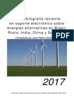 Salvaneschi, Juan Pablo | Una bibliografía reciente en soporte electrónico sobre energías alternativas en Brasil, Rusia, India, China y Sudáfrica