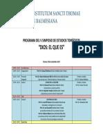 Programa Simposio Tomista 2017