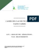 Cahier Des Clauses Techniques Particulières