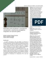 Crespo, Sanabria & Guerra (2012). Matemática Para Arquitectos
