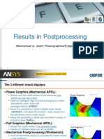 CADFEM Results in Different Post MAPDL and ANSYS Workbench