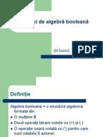 Notiuni de Algebra Booleana