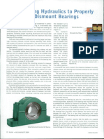 Incorporating Hydraulics to Properly Mount & Dismount Bearings