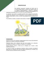 Radiación Solar