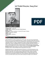 Biografi Wachid hasyim