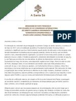Papa Francesco 20170930 Codice Diritto Canico