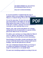 Aofa Newsletter #2 Levels of Consiouenss