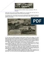 Railway Work, Life and Death Project Info Sheet