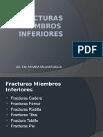 Fracturas de Miembro Inferiores