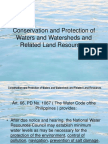 Report on Water Shed for Natural Resources and Environmental Laws
