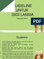 Guideline Oral Health for Older People