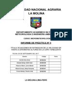 Informe 4 de Micrometeorologia