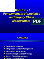 Module-I- B-Fundamentals of Logistics & SCM