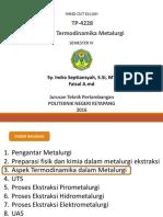 Aspek Termodinamika Metalurgi