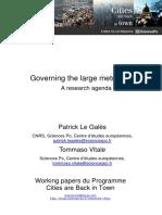 LE GALÈS; VITALE (2013) Governing the large metropolis.pdf