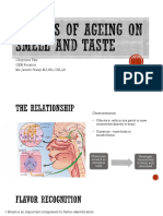 effects of ageing on smell and taste