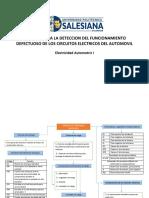 Tecnicas Para La Deteccion Del Funcionamiento Defectuoso de Los Circuitos Electricos Del Automovil-II