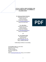 Intellectual Capital Disclosures and Corporate Governance