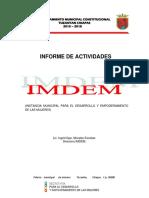 Informe de Actividades IMDEM