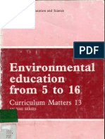 Environmental Education from 5 to 16