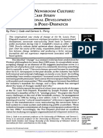 Changing the Newsroom Culture a Four Year Case Study of Organizational Development at the St. Louis Post Dispatch 2003 Journalism and Mass Communication Quarterly