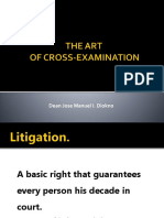 Art of Cross-examination August 2016