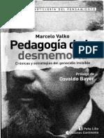 Valko - Pedagogía de La Desmemoria