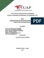 Hipotesis Basicas de Analisis Estructural