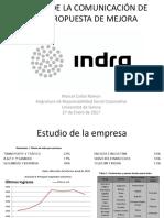 Estudio de La Comunicación de Rsc y Propuesta INDRA