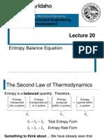 L20 - Entropy Balance Equation