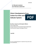 China Eco-cities Indicator Systems