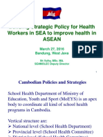 Building Strategic Policy for Health Wokers to Improve Health in ASEAN