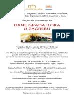 Pozivnica - Dani Grada Iloka u Zagrebu 2016.