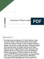 Amenore Primer Pada Wanita Blok 27