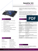 Notepal X3 Product Sheet