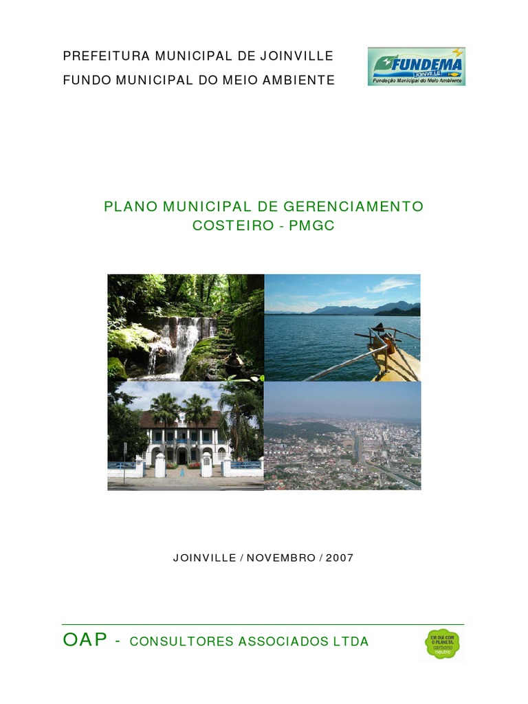 60dc5f2f9ebfc Plano Municipal de Gerenciamento Costeiro PMGC de Joinville SC
