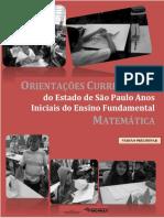 ORIENTAÇÕES CURRICULARES Do Estado de São Paulo Anos Iniciais Do Ensino Fundamental MATEMÁTICA
