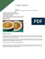 Sopa Canja Low Carb de Frango e Legumes