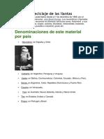 Historia y Reciclaje de Las Llantas