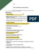 Calendario Académico 2017 Con Extension de Plazos