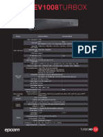 Especificaciones Técnicas - EV1004TURBOX - EV1008TURBOX